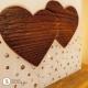 Hochzeitskerze Herz an Herz mit Glitzerband