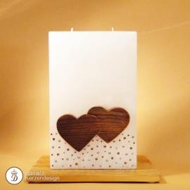 Hochzeitskerze Herz an Herz light - die Kleine