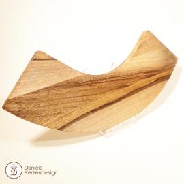 Holzteller für Achatkerze