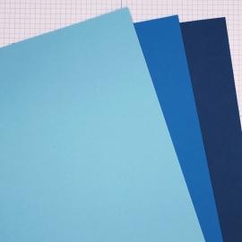 Farbkartonset - Blautöne