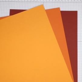 Farbkartonset - Orangetöne