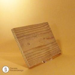 Holzteller für Sandelholzkerze