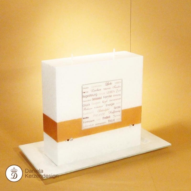 hochzeitskerze gute w nsche daniela kerzendesign. Black Bedroom Furniture Sets. Home Design Ideas