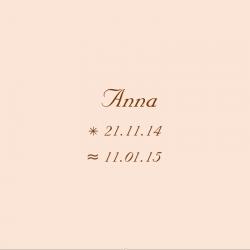 Geburtsdatum auf Taufkerze