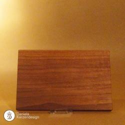 Holzteller Nussholz massiv, geölt