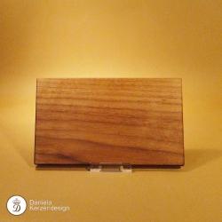 Holzteller Nussholz massiv kleiner, geölt
