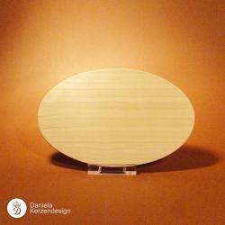 Holzteller Oval Kirschholz geölt