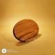 Holzteller Oval Nussholz geölt