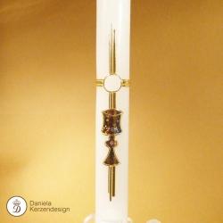 Erstkommunionskerze goldener Kelch